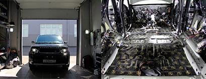 Шумоизоляция Land Rover в LR.RU