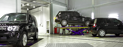 Слесарный цех ремонта Land Rover