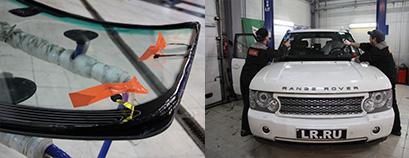 Вклейка лобового стекла на всех моделях Land Rover