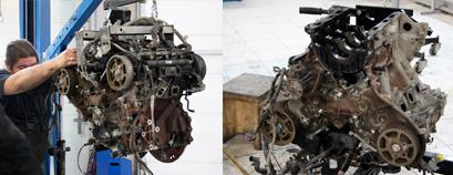 Снятие и дефектовка двигателя Land Rover Discovery
